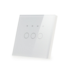 touch panel 3gang 1way timer touch switch