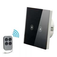 touch sensor 2gang 1way switch with remote