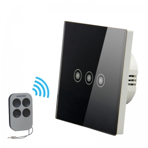 intelligent 3gang 1way wall touch switch